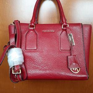 Michael Kors Leather Red Handbag